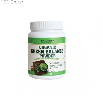 Biogreen Organic Green Balance Powder (200g/tin)