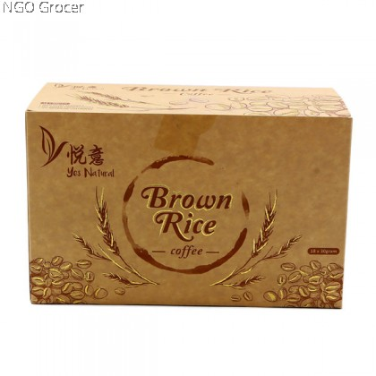 Yes Natural Brown Rice Coffee (30gx18sachets)