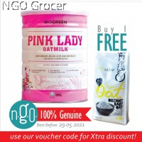 Biogreen Pink Lady Oatmilk (800g) TWIN PACK + Free Earth Living Organic Instant Baby Oat (500g)