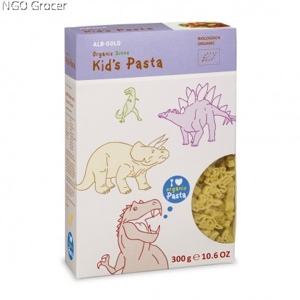 Health Paradise ALB GOLD Organic Kid's Pasta Dinos (300g/pack)
