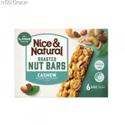 N&N ROASTED NUT BAR CASHEW PEANUT 192G