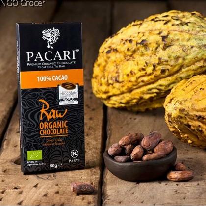Pacari Raw Organic Chocolate Bar 100%