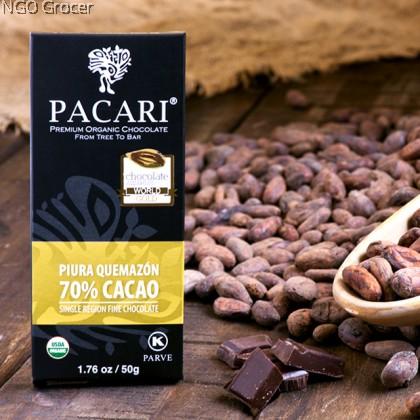 Pacari Raw Organic Chocolate Bar 70%
