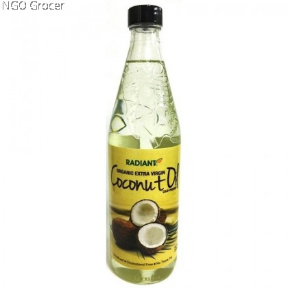 Radiant  Organic E/V Coconut Oil (750ml/btl)