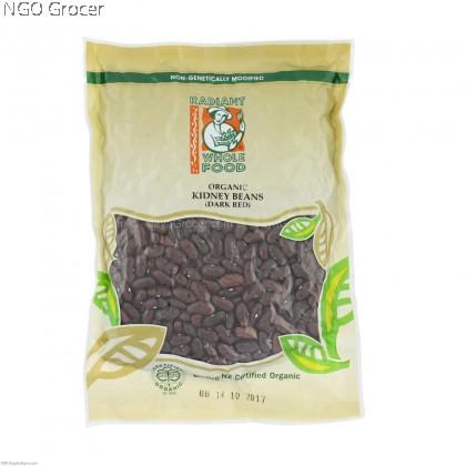 Radiant Kidney Bean Dark Red Organic (500g/btl)