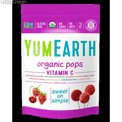 Yummy Earth Organic Lollipops-Vitamin C 14ct (85g/pkt)