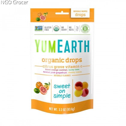 Yummy Earth Organic Drops-Vitamin C (Citrus Grove Drops) (93.5g/pkt)