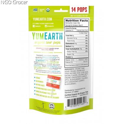 Yummy Earth Organic Lollipops-Super Sour 14ct (85g/pkt)