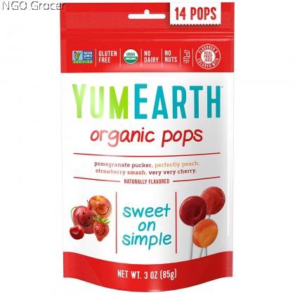 Yummy Earth Organic Lollipops - Assorted 14ct (85g/pkt)