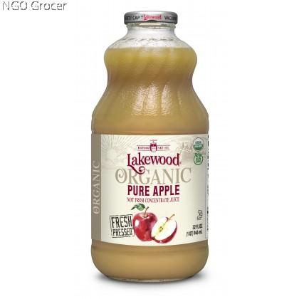 Lakewood Apple Juice Organic 100% Pure 946ml