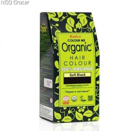 Radico Org. Hair Colour Powder - Soft Black (100g/box)