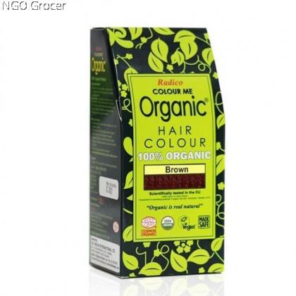 Radico Org. Hair Colour Powder - Brown (100g/box)