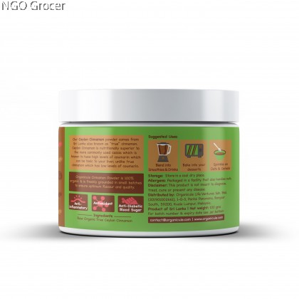 Organicule Cinnamon Powder 100g