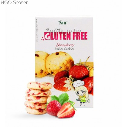 NHF Gluten Free Strawberry Butter Cookies (240g/pack)