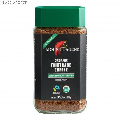 Mount Hagen Organic Fairtrade Instant Decaffeinated Coffee (100g/btl)